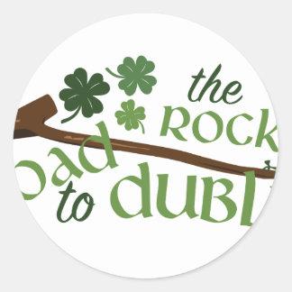 Road To Dublin Round Sticker