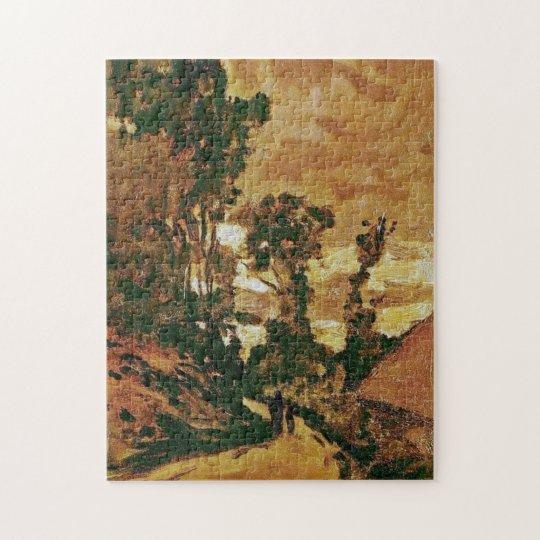 Road to Farm Saint-Simeon Monet Fine Art Jigsaw Puzzle