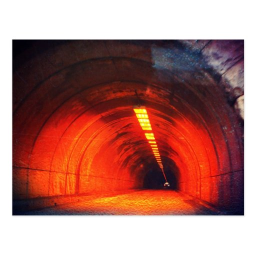 Road to Hell - Creepy Tunnel Photo Edit Postcard