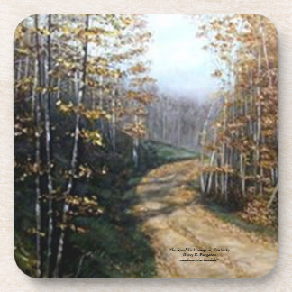 """ROAD TO LEXINGTON,KY CORK COASTER"" DRINK COASTERS"