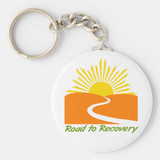 Road to Recovery Gear Basic Round Button Key Ring