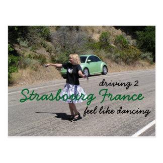 Road to Strasbourg France Postcard