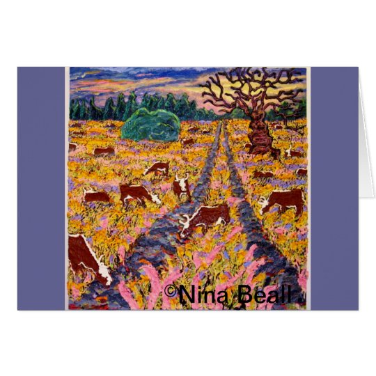 """Road to the Cattleguard"" 4x4', 2013, Nina Beall Card"