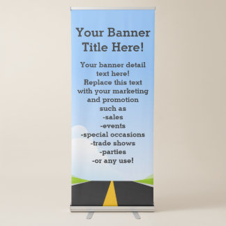 Road to the future promotional business corporate retractable banner