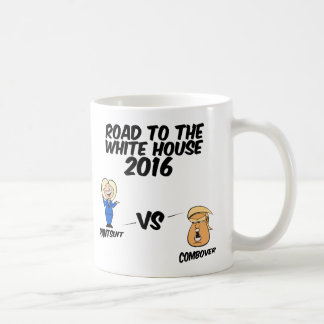 Road To The White House 2016 Pantsuit vs Combover Coffee Mug