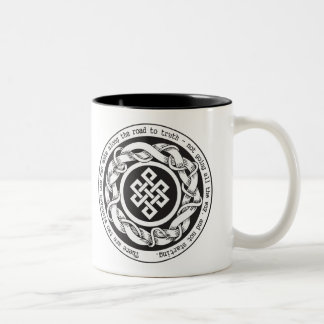 Road to Truth Endless Knot Two-Tone Mug