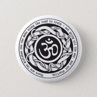 Road to Truth Om 6 Cm Round Badge