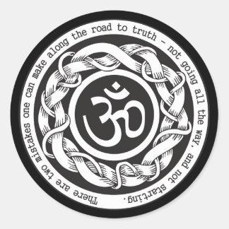 Road to Truth Om Round Sticker