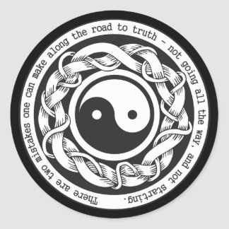 Road to Truth Yin Yang Round Sticker
