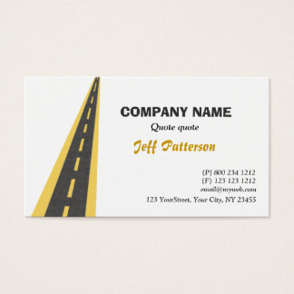Road Travel Traveling Business Card