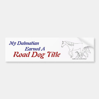Road Trial: RD Title - Dalmatian Bumper Sticker