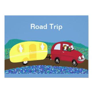 Road trip 17 cm x 22 cm invitation card