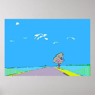 Road Trip Art Poster