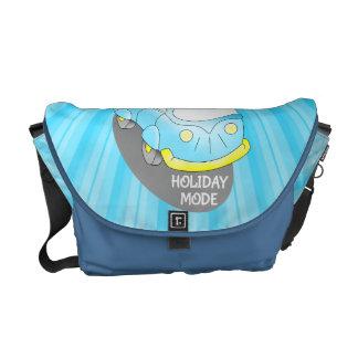 Road Trip Blue Van Messenger Bags