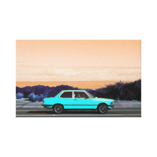 Road Trip (Cyan/Peach) canvas print