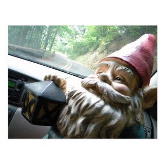 Road Trip Gnome Postcard