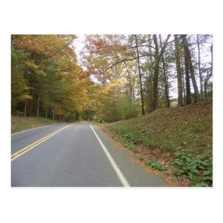 road trip in fall pennsylvania postcard