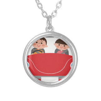Road Trip Silver Plated Necklace