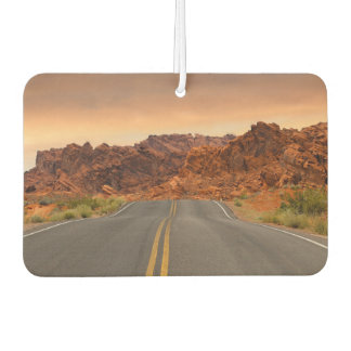 Road trip sunset car air freshener