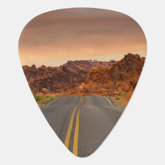 Road trip sunset guitar pick