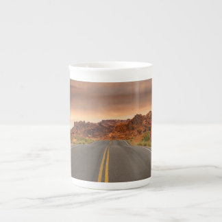 Road trip sunset tea cup