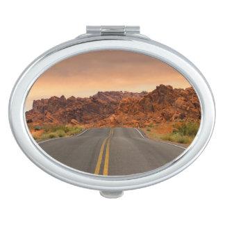 Road trip sunset travel mirror