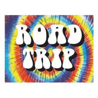 Road Trip tie-dye design Postcard