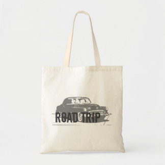 Road Trip Vintage Car Tote Bag