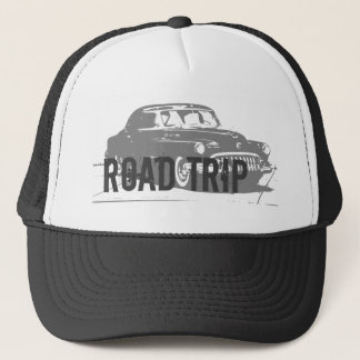 Road Trip Vintage Car Trucker Hat