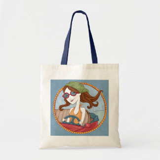 Road Trippin' Tote-Blue Canvas Bag