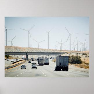 Road Windmills Poster