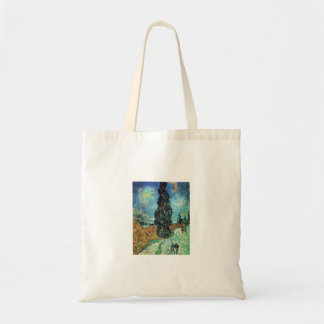 Road with Cypress and Star Budget Tote Bag