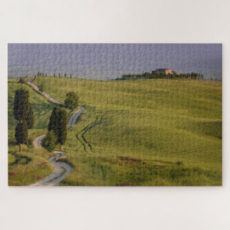 Road with cypresses to Terrapille in Tuscany Jigsaw Puzzle