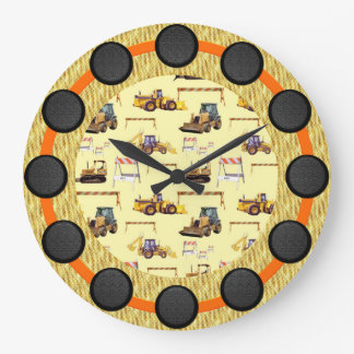Road Work Construction Zone Wall Clock