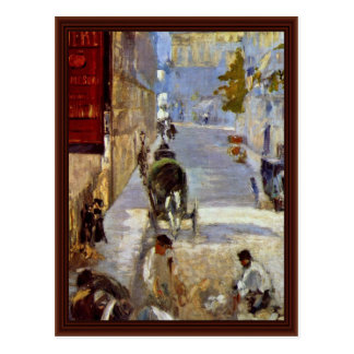 Road Workers Rue De Bernes Detail By Manet Edouard Postcard