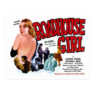 Roadhouse Girl Postcard
