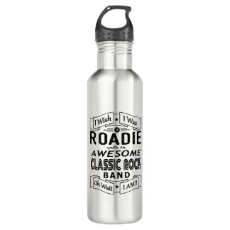 ROADIE awesome classic rock band (blk) 710 Ml Water Bottle