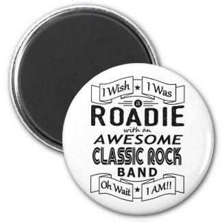 ROADIE awesome classic rock band (blk) Magnet