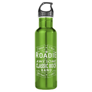ROADIE awesome classic rock band (wht) 710 Ml Water Bottle