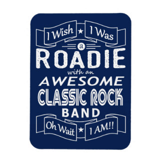 ROADIE awesome classic rock band (wht) Magnet