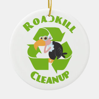 Roadkill Cleanup Buzzard Ceramic Ornament