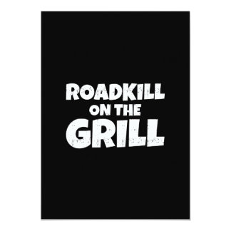 Roadkill on The Grill - Funny BBQ Party 13 Cm X 18 Cm Invitation Card