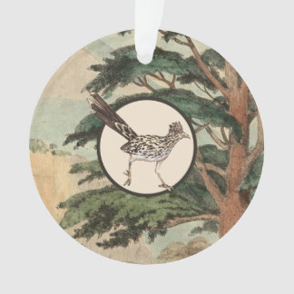 Roadrunner In Natural Habitat Illustration Ornament