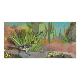 Roadrunner in the Desert Poster