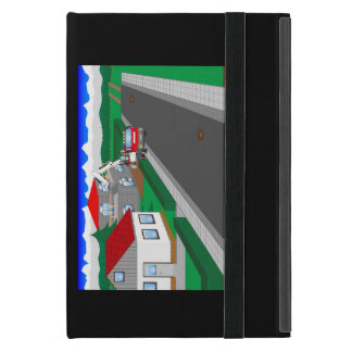 Roads and building of houses case for iPad mini