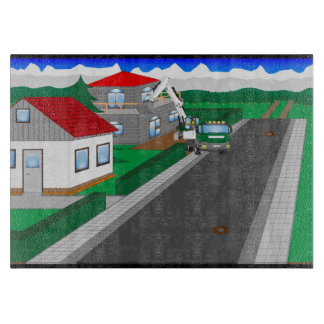 Roads and building of houses cutting board