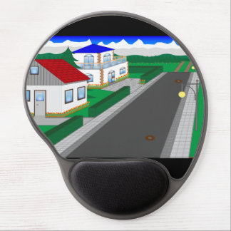 Roads and building of houses gel mouse pad