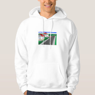 Roads and building of houses hoodie