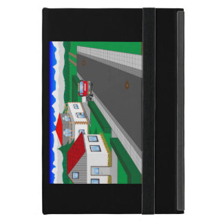Roads and building of houses iPad mini case