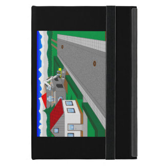 Roads and building of houses iPad mini cover
